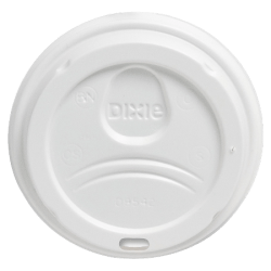 Dixie® PerfecTouch Hot Cup Lids, For 10-, 12- And 16-Oz Cups, White, Pack Of 50 Lids