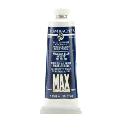 Grumbacher Max Water Miscible Oil Colors, 1.25 Oz, Prussian Blue, Pack Of 2
