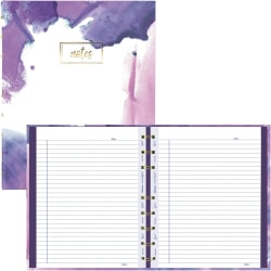 """Blueline MiracleBind Passion Collection Notebook - Paintstroke - Twin Wirebound - 7 1/4"""" x 9 1/4"""" - Paintstroke - Hard Cover, Printed, Storage Pocket, Micro Perforated - Recycled - 1Each"""