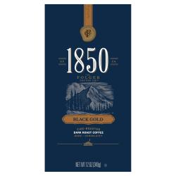 Folgers® 1850 Black Gold Dark Roast Coffee, Whole Bean, 12 Oz, Carton Of 6 Bags