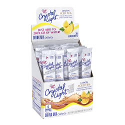 Crystal Light On-The-Go Sugar-Free Drink Mix, Iced Tea, 0.08 Fl Oz, 30 Packets Per Box, Pack Of 2 Boxes