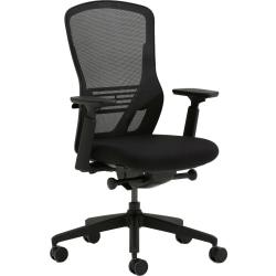 Allermuir Ousby Ergonomic Fabric Mid-Back Task Chair, Slate/Black