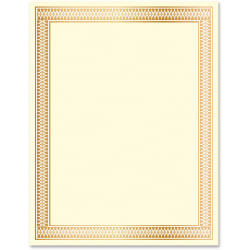 Geographics Traditional Award Certificates - 24 lb - Laser, Inkjet Compatible - Gold - 100 / Pack