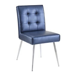 Office Star™ Avenue Six Amity Tufted Dining Chair, Sizzle Azure/Silver