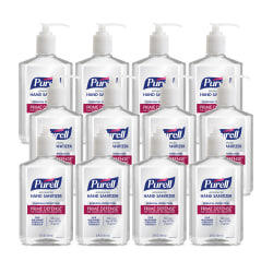 PURELL PRIME DEFENSE™ Advanced Hand Sanitizer, 12 fl oz Pump Bottle, Case of 12 Bottles