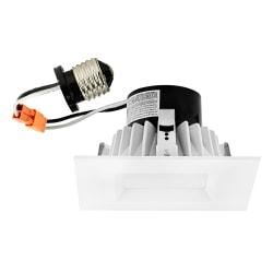 "Luminoso LED 4"" Retrofit Trim Square Fixture, 4"", Dimmable, 3000 Kelvin, 11 Watt, 700 Lumens"