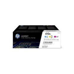 HP 410A Cyan/Magenta/Yellow Toner Cartridges (CF251AM), Pack Of 3 Cartridges