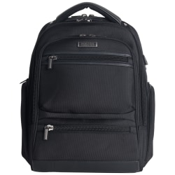 Kenneth Cole Reaction R-Tech Laptop Backpack with USB Charging, Black