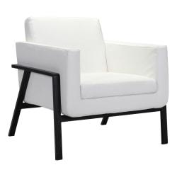 Zuo® Modern Homestead Lounge Chair, White/Black