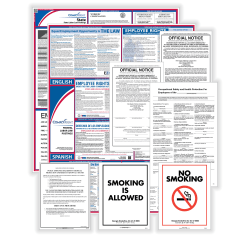 ComplyRight Federal, State And Public Sector Poster Set, Bilingual/English, New Jersey