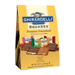 Ghirardelli® Chocolate Squares, Premium Assortment, 15.77 Oz Bag