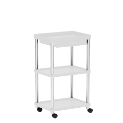 Mind Reader Valet 3-Tier Rolling Coffee Cart, White