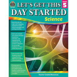 Teacher Created Resources Lets Get This Day Started: Science, Grade 5