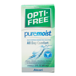 Opti-Free PureMoist Contact Solution, 2 Oz, Bottle
