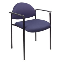 Boss Fabric Stacking Chair, With Arms, Blue