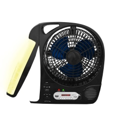 """Technical Pro Adventure Series Rechargeable 8"""" Camping Fan, 13""""H x 4 1/2""""W x 12 1/2""""D, Black"""