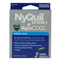 NyQuil VapoCOOL Cold & Flu Relief Medicine, Pack Of 2 Caplets
