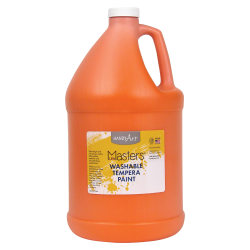 Handy Art Little Masters Washable Tempera Paint Gallon - 1 gal - 1 Each - Orange