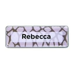 "The Mighty Badge™ Animal Print Name Badge Kit, 1"" x 3"", Snake Print, Pack Of 10"