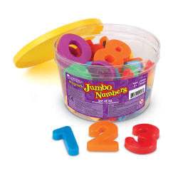 Learning Resources® Jumbo Magnetic Numbers, 36 Pieces, Grades Pre-K - 1