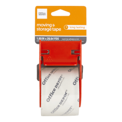 "Office Depot® Brand Moving And Storage Tape With Dispenser, 1-15/16"" x 26-11/16 Yd, Clear"