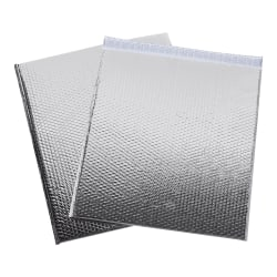 "Office Depot® Brand Glamour Bubble Mailers, 22-1/2""H x 19""W x 3/16""D, Silver, Pack Of 48 Mailers"