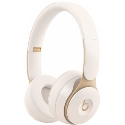 Beats by Dr. Dre Solo Pro Wireless Noise Cancelling Headphones - Ivory - Stereo - Wireless - Bluetooth - Over-the-head - Binaural - Circumaural - Noise Canceling - Ivory