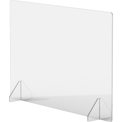 "Lorell® 36"" x 24"" Social Distancing Barrier, Clear"