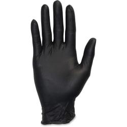 Safety Zone Medical Nitrile Exam Gloves - Small Size - Nitrile - Black - 100 / Box