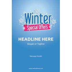 Custom A-Frame Sign, Winter Special Offers