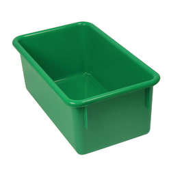 Stowaway® Tray Without Lid, Medium Size, Green, Pack Of 5
