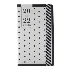 "See Jane Work® Polka Dot Academic 24-Month Planner, 3-1/2"" x 6"", Black/White, July 2020 to June 2022, SJ101-021A"