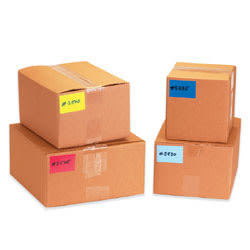 """Tape Logic® Removable Write™On Rectangle Inventory Label Roll, DL633B, 6"""" x 3"""", Dark Blue, Roll Of 250"""