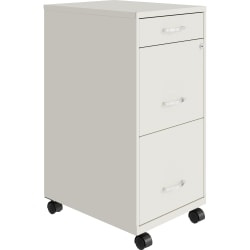 "Lorell® SOHO 18""D Vertical 3-Drawer Mobile File Cabinet, White"
