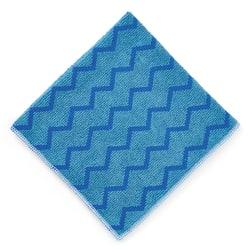 "Rubbermaid® Commercial HYGEN Microfiber Cloth, 16"" x 16"", Blue"