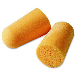 3M 1100 Uncorded Foam Earplugs - Smooth Surface, Uncorded, Comfortable, Dirt Resistant, Hypoallergenic, Disposable - Noise Protection - Polyurethane - Orange - 200 / Box