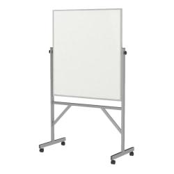 "Ghent Reversible Magnetic Dry-Erase Board, 36"" x 48"", White, Aluminum Frame"
