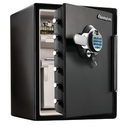 Sentry®Safe Fingerprint Safe, 125 Lb, 2 Cu. Ft., Black