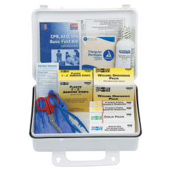 25 Person ANSI Plus First Aid Kits, Weatherproof Plastic, Wall Mount