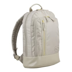 """Fuel Millennial Organizer Backpack With 15"""" Laptop Pocket, Stone"""