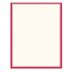 "Gartner™ Studios Design Paper, 8 1/2"" x 11"", 60 Lb, Red Border, Pack Of 100 Sheets"
