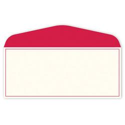 """Gartner Studios® Stationery Envelopes, #10, 4 1/8"""" x 9 1/2"""", Red Border, Pack Of 50"""