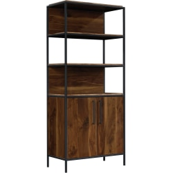 "Sauder® Nova Loft 76""H Bookcase With Doors, Grand Walnut"