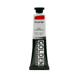 Golden OPEN Acrylic Paint, 2 Oz Tube, Pyrrole Red