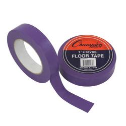 "Champion Sports Floor Tape, 1"" x 108', Purple"