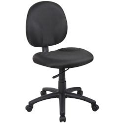 Boss Diamond Fabric Wide Back Task Chair, Black