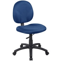 Boss Wide Seat Fabric Task Chair, Blue/Black