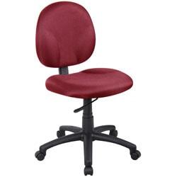 Boss Wide Seat Fabric Task Chair, Burgundy/Black