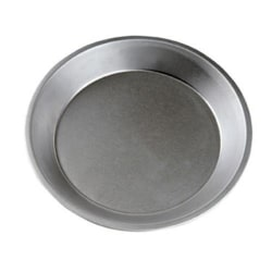 "Focus Foodservice Pie Pan, 9"" x 1 3/16"", Silver"