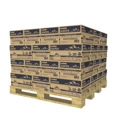 "Boise® ASPEN® Premium Laser Paper, Letter Size (8 1/2"" x 11""), 96 (U.S.) Brightness, 24 Lb, 30% Recycled, White, 500 Sheets Per Ream, Pallet Of 40 Cases"